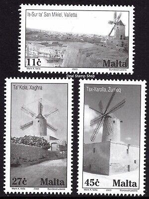 Malta 2003 Windmills Complete Set SG1337 - 1339 Unmounted Mint