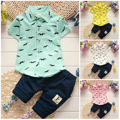 baby clothes summer short sleeve shirt+short pants kids boys outfits gentleman