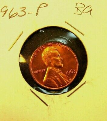 1963    Lincoln Memorial  Cent  BU    Red  Nice  US  Coin   Combined   Shipping