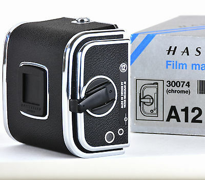 Mint Boxed Hasselblad A12 Chrome Film Back Magazine Holder 120 A 12 6x6