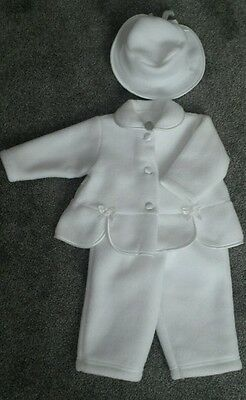 Baby outfit, set of 3, 3-6 months, 68cm, white