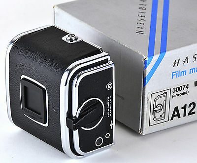 Mint Boxed Hasselblad A12 Chrome Film Back Magazine Holder 120 A 12 6x6 #2