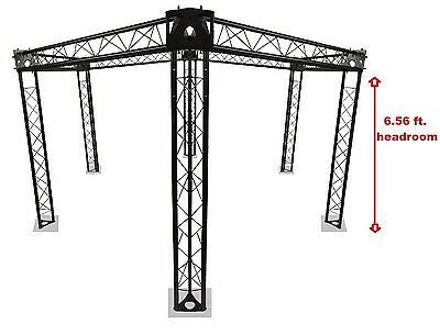Trade Show Booth, Trusses DJ Stage 15' Diameter Metal Truss Triangle Hexagon