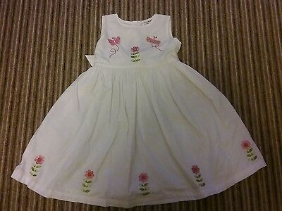 girls white dress age 12-18months