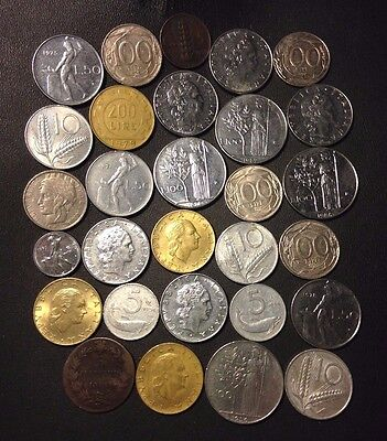Old Italy Coin Lot - 1861-PreEuro - 29 Great Coins - Lot #A2