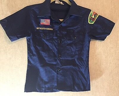 Youth BOY SCOUTS OF AMERICA Blue Official Uniform Shirt Size 10