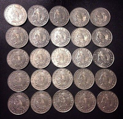 Old Mexico Coin Lot - 50 Centavos - Unsearched - 25 Excellent Coins -Lot #A5