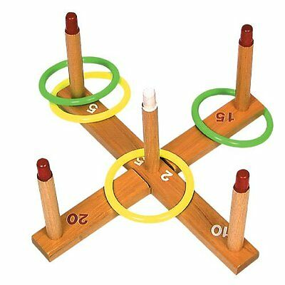 Champion Sports Wooden Ring Toss Game for Tailgating, Camping, Backyard and Gym