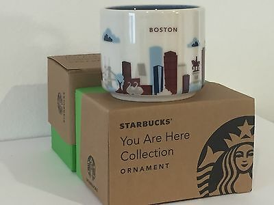 "2015 Starbucks ""YOU ARE HERE"" YAH Ornament Series, Boston City 2 oz Limited"