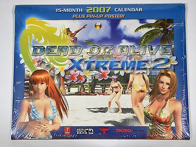 Dead or Alive Xtreme2 Calendar 2007 Plus Pin-up Poster / NEW Sealed