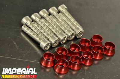 Z20 Rocker Cover FLARED CUP WASHERS - RED - VXR GSI SRI TURBO Z20LEH Z20LET