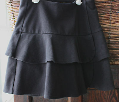 LANDS' END Black Layer Flounce Skort girl size 8