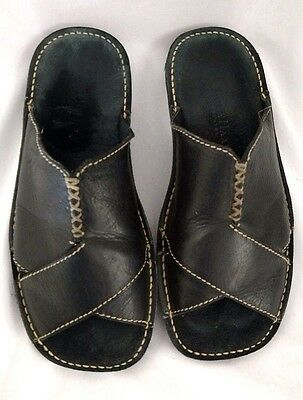 Cole Haan Men's Size 8 M Black Leather Slip On Slide Sport slipper Sandals boho