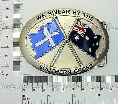 "Australia Eureka Flags ""We Swear By The Southern Cross"" Belt Buckle"
