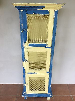 Vintage Shabby Retro Antique Style Rustic Cabinet Cupboard