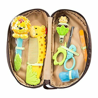 Sassy Jungle Baby Child Care Theme Grooming Set, 11 Count