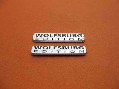 Vw Jetta Wolfsburg Edition Rear Side Emblem Logo Badge Sign Symbol Oem Used Set