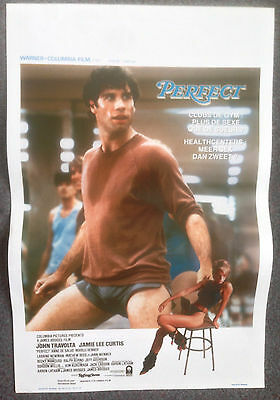 ORIGINAL BELGIUM FILM POSTER PERFECT John Travolta