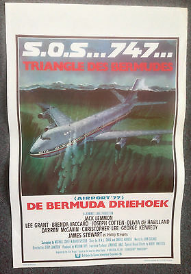 Original Belgium Film Poster Airport 77 The Bermuda Triangle