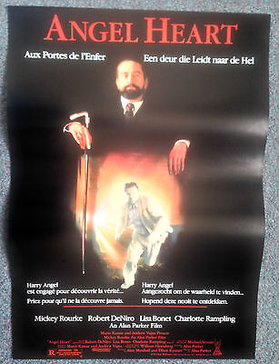 ORIGINAL BELGIUM FILM POSTER ANGEL HEART Robert DeNiro, Mickey Rourke