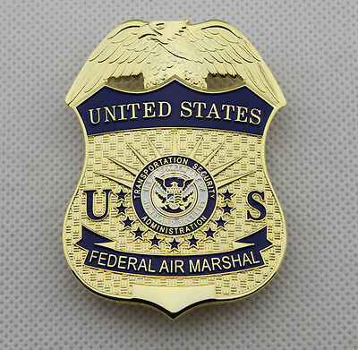 U.s Federal Air Marshal Metal Pin Props Collection Badge Full Size