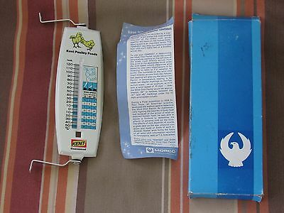 Advertising Kent Poultry Feeds Thermometer New Old Stock Farming Vintage