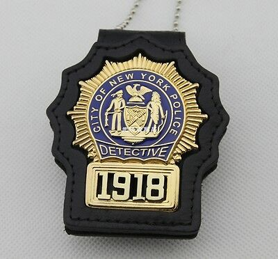 U.s. New York Detective Nypd Badge Serial 1918 Props Collection Badge B03