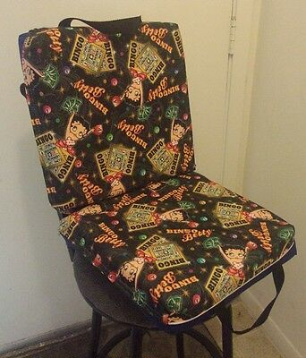 Double Seat Chair Cushion  Bingo Betty  Betty Boop Pattern - Blue : double seat chair - Cheerinfomania.Com
