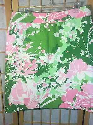 Womens Talbot's Skirt. Size 14. Pink Green and White Flowers Fully lined