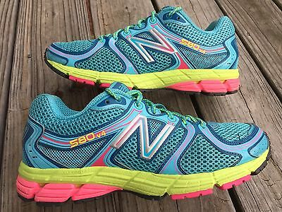 New Balance 580 v4 Women's Size 8.5 US Running/Athletic Shoes Blue/Pink/Volt