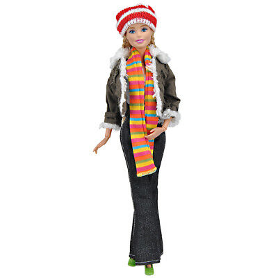 Coat Blouse Denim Pants Jacket Trousers Clothes Accessories For Barbie Doll Girl
