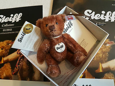 RARE Steiff Club Teddybär + Magazin 2015 + OVP STEIFF BEAR 2015 MINT CONDITION