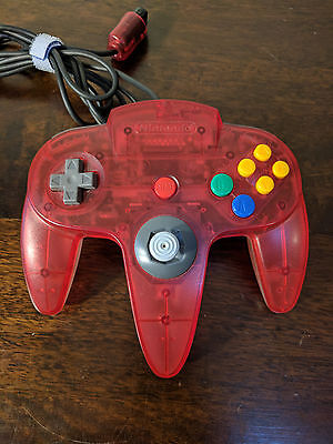 Limited Edition Nintendo 64 Controller - Clear Red/Clear