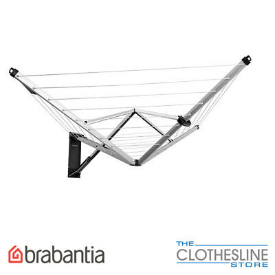 Brabantia WallFix Fold Away Clothesline 24m Clothes Line FREE DELIVERY IN STOCK