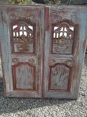Provincial Pair Of Antque Architectural French Decorative Doors