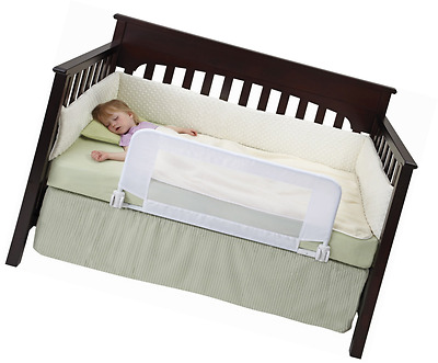 DexBaby Safe Sleeper Convertible Crib Bed Rail for Toddler with Reinforced Ancho