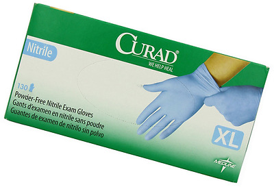 Curad Powder-Free Nitrile, X-Large, 130 Count