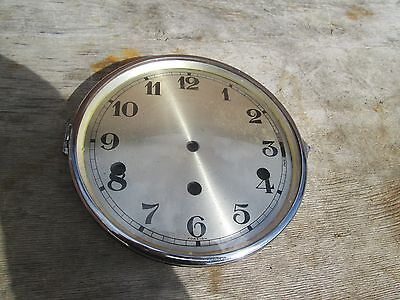 A Large Chrome Westminster Chime Mantel Clock Bezel With Convex Glass And Dial