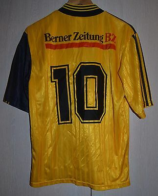 Young Boys Switzerland 1990's Match Worn Issue Football Shirt Jersey Adidas #10