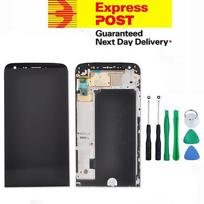 LG G5 (LGH850) LCD Digitizer Touch Screen Glass Assembly Replacement Black frame