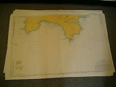 Vintage Admiralty Chart 777 UK - LAND'S END to FALMOUTH. 1979 edn