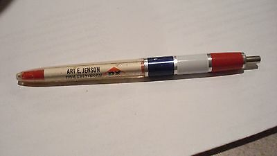 Older Ball Point Pen ( Kwik Klik ) Art E. Jenson Dx And Goodyear Tires/batteries