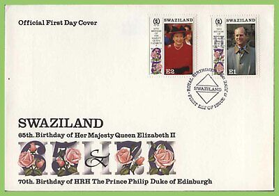 Swaziland 1996 Queen EII 65th birthday set on First Day Cover