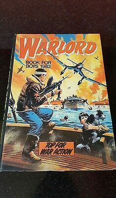 WARLORD BOOK FOR BOYS ANNUAL 1982 vintage rare books
