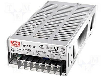 New Meanwell SP 150-12    (Pack of 4)  Power Supplies  12V  12.5A   150 Watts