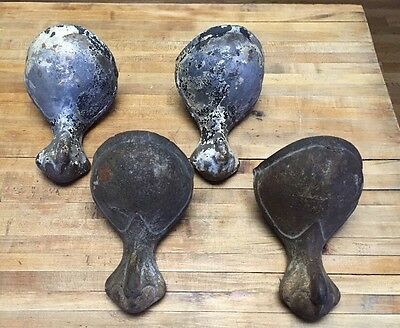 Vtg Set 4 Matching Victorian Ball and Claw Foot Bathtub Bath Tub Feet Cast Iron
