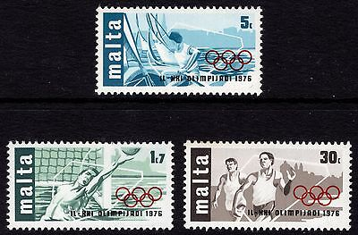 Malta 1976 Olympic Games Complete Set SG 559 - 561 Unmounted Mint