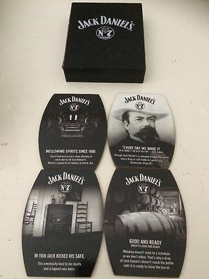 jack daniels coasters in box (4 pack)
