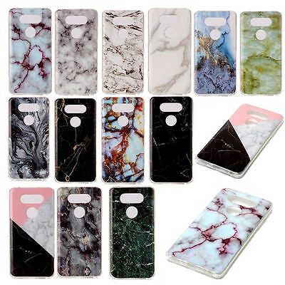 Ultra Thin Marble Patterned Rubber Gel Soft TPU Silicone Case For LG V20 X Power