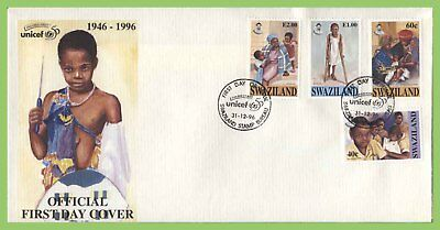 Swaziland 1996 UNICEF set on First Day Cover